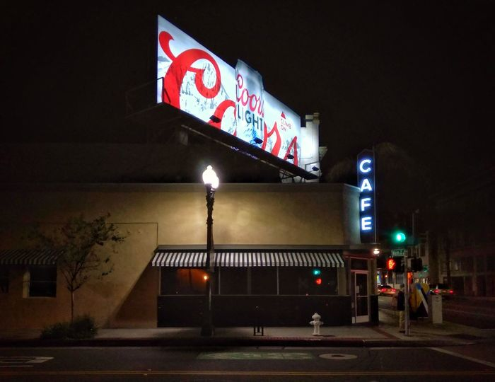 Night Illuminated Outdoors Architecture City Cafe Streetphotography Street Corner Neon Sign Billboard Night Photography Night Lights Street Light Streetphoto_color Urban Lifestyle Urban Photography Street Photography Streets Nightscape Street Scene Nighttime Photography Nightshot Signage Signs Urban Exploration