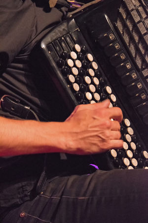 Music Accordion Accordionist Adult Hand High Angle View Human Body Part Human Hand Indoors  Leisure Activity Lifestyles Men Midsection Music Musical Equipment Musical Instrument Musician Nightlife Occupation One Person Playing Real People Skill