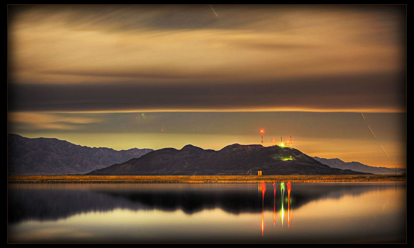 Geotermica Mexicali Baja California Night Night Photography Reflection
