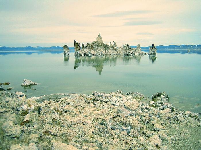 Mono Lake California Landscape Tufa USA America United States Tourism Lake Water