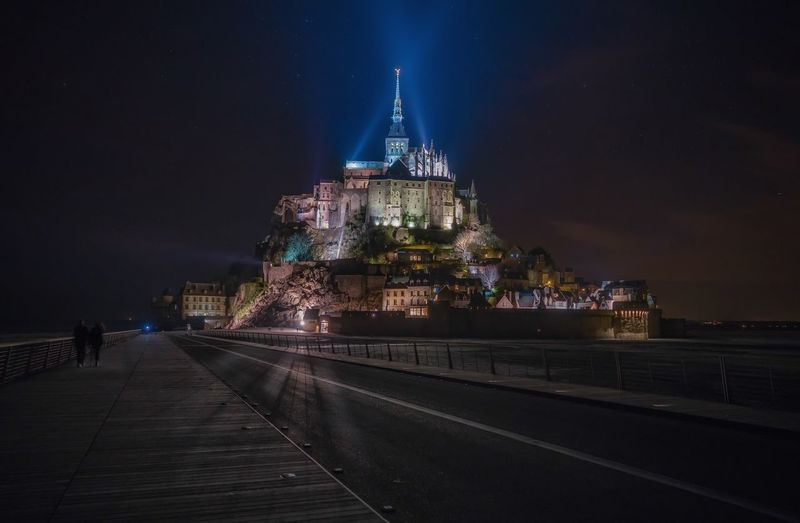 France Mont Saint-Michel Nightphotography Normandie UNESCO World Heritage Site Architecture Building Building Exterior Built Structure History Illuminated Lights In The Dark Long Exposure Long Exposure Night Photography Mont Saint-Michel Abbey Nature Night No People Outdoors Religion Sky Travel Destinations