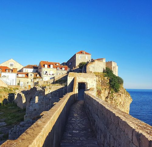Dubrovnik EyeEm EyeEmNewHere EyeEm Gallery EyeEm Best Shots EyeEm Selects Travel Travel Destinations Travel Photography Traveling History Blue Clear Sky Sea Sky Architecture Built Structure Fortified Wall The Past