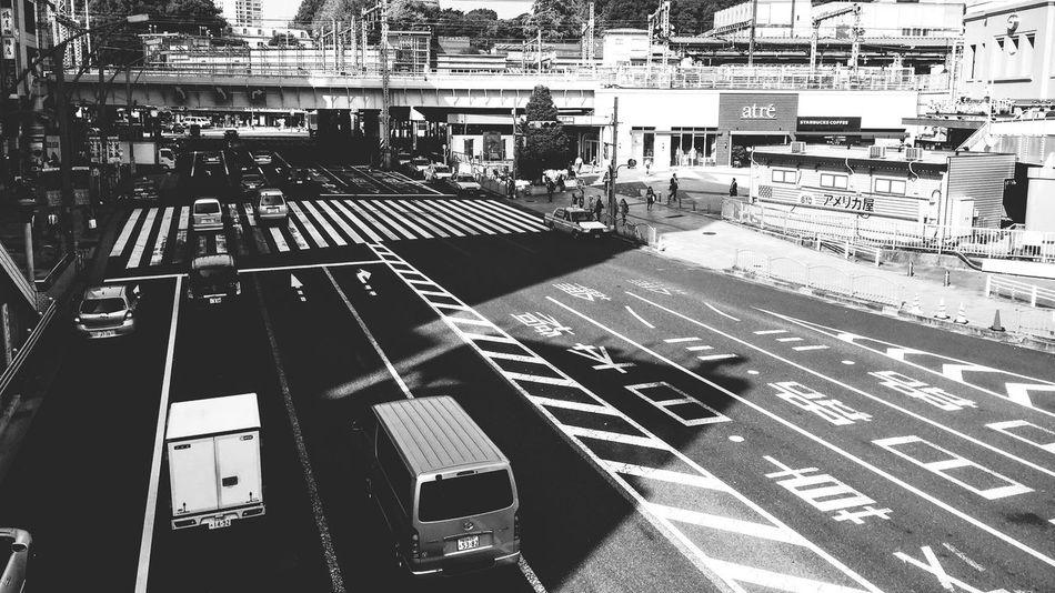 Midday traffic Ueno 上野 Blackandwhite Japan