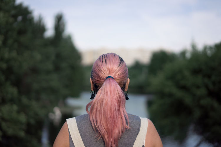 One Person Headshot Human Body Part Adult One Woman Only Full Frame The Portraitist - 2017 EyeEm Awards Rear View Pink Pinkhair Let's Go. Together.