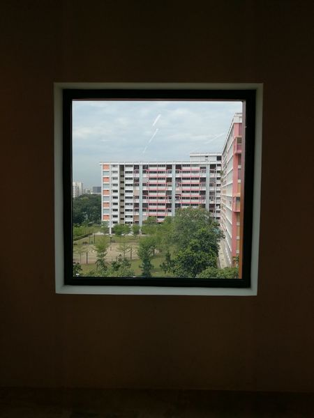 Framed Window Architecture Indoors  Skyscraper Cityscape City Day No People The Week On EyeEm Sky Framed Shot Framed View Framed Residential Building Simplicity Minimal