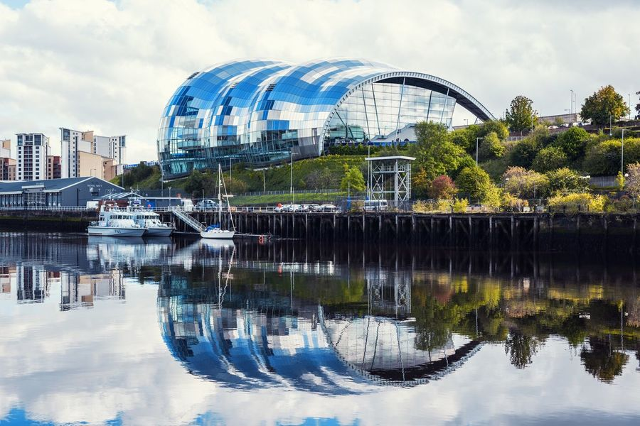 The Sage Gateshead Reflection Architecture Water Built Structure Building Exterior Sky Day No People Outdoors Tree City The Sage TheWeekOnEyeEM Eyem Best Shots EyeEm Gallery Nikon Nikonphotography City Life Nifty Fifty Newcastle Upon Tyne England Riverside Rivertyne Reflection_collection Reflections In The Water