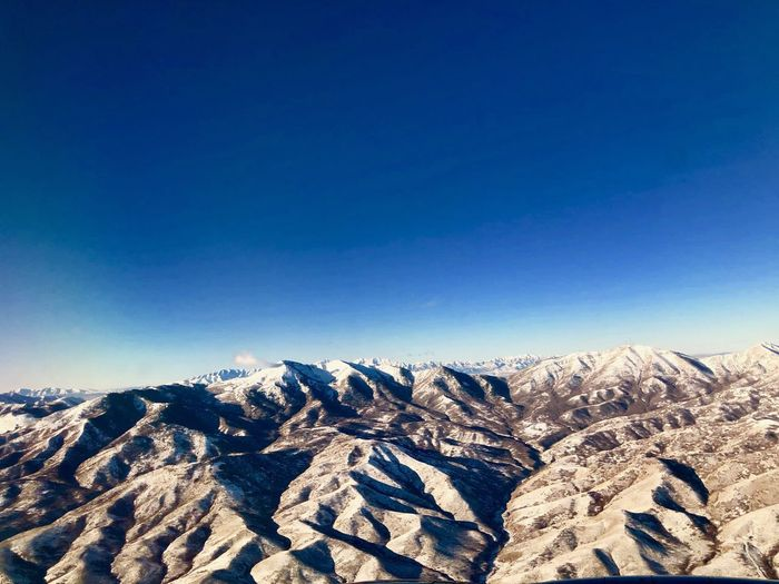 Picture from the air: Salt Lake City, Utah Sky Beauty In Nature Tranquil Scene Scenics - Nature Mountain Tranquility Blue