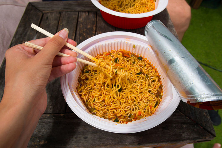 Adult Adults Only Asian Food Chinese Food Chopsticks Cultures Day Food Freshness Human Body Part Human Hand Men People Ready-to-eat Savory Food Soup