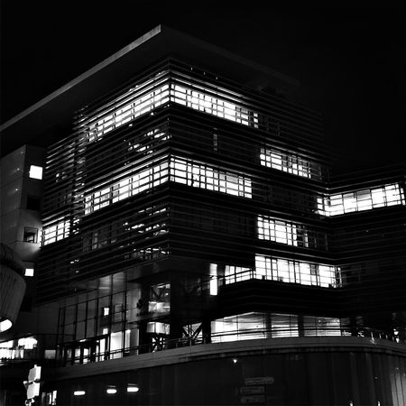 Building Exterior Built Structure Architecture Low Angle View Night Illuminated Outdoors Sky No People City Life Monochrome Blackandwhite Streetphotography Bordeaux Bnw_life City View  Streetphoto_bw