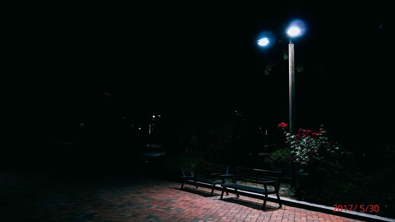 night, illuminated, street light, moon, no people, outdoors