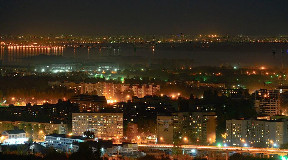 Illuminated Night No People Cityscape City Ночь город огни Саратов