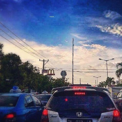 Denpasar Trafficjam Sunsetroad Afternoon Sky