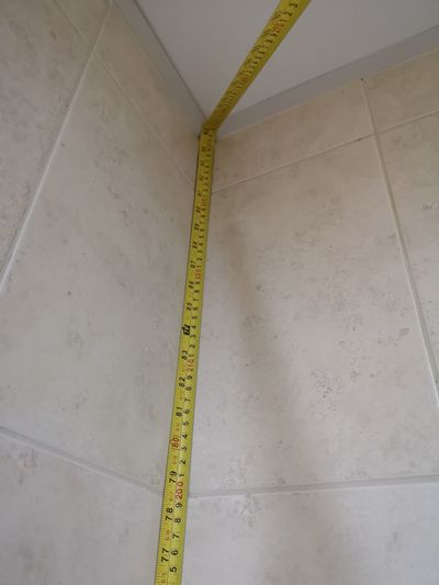 Construction Site Pattern Business Finance And Industry Architecture Tile Mosaic Tiled Floor Tiled Wall Stone Tile Tape Measure Incomplete Renovation Backgrounds Instrument Of Measurement Office Building Toilet Bowl Shower Marbled Effect