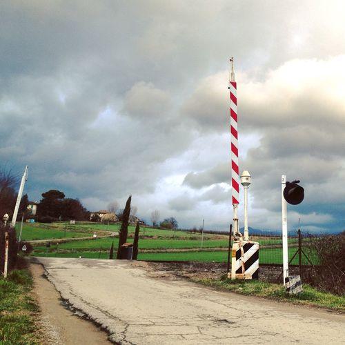 Landscape Station Passaggio A Livello Countryside Tuscany