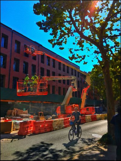 Construction site bathed in Morning Light - 8/3/16 As I Sees It Fresh On Market August 2016 Graphics & Design Hidden Gems  Home Is Where The Art Is IPhone Creative Edits W/ Snapped 'n' Enlight Malephotographerofthemonth Opportunistic Images On The Go The Journey Is The Destination Hidden Gems  EyeEm StreetPhotography, NYC Colour Of Life,