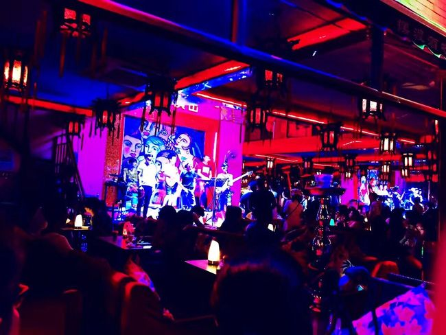 Beijing Large Group Of People Crowd Illuminated Nightlife Real People Night Men Women Music Arts Culture And Entertainment Enjoyment Fun Audience Performance Indoors  Stage Light Lifestyles Nightclub Popular Music Concert Musician