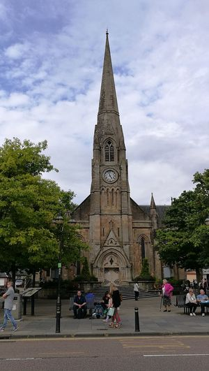 Callander Architecture Place Of Worship Spire  Busystreet Greatweeday :-) <3 Fairy Lights 4.58pm Clockface