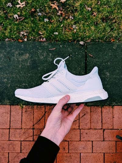 Shoes Ultra Boost Adidas Human Body Part Personal Perspective One Person Human Hand Outdoors Holding Day