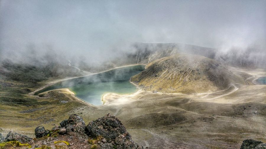 Idyllic Shot Of Hot Spring At Nevado De Toluca National Park Against Sky