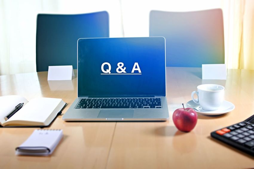 Answer Apple Business Communication Computer Computer Keyboard Connection Desk Global Communications Indoors  Internet Laptop Light Effects Office Q And A Q&A Question Questions And Answers Table Technology Wireless Technology