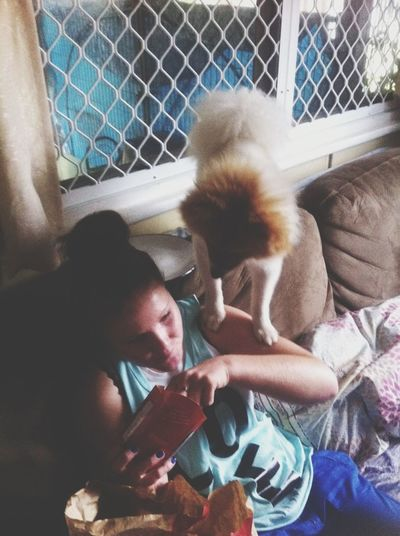 Pjay Trying To Eat My Maccas