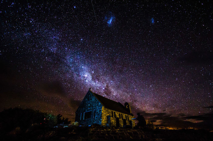 New Zealand Taking Photos From My Point Of View Lake Tekapo Traveling Natural Beauty Sky And Clouds Working Holiday  new zealand beauty Summer2015 Milkyway Shootingstar Church Of The Good Shepherd