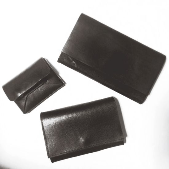 My products.Hand-made leather wallets. Unus Made In Japan Menswear Handmade Work Artisan