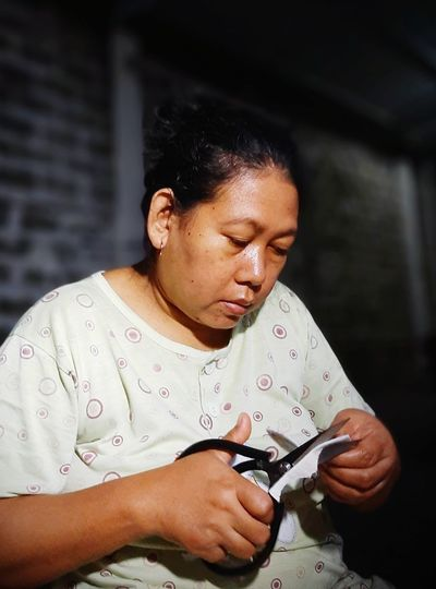 A woman who works constantly during a pandemic