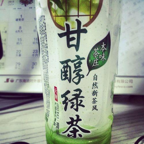 這貨¥2……還可以……綠茶 無糖 Greentea Familymart