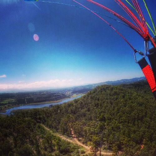 When the homie @gmuntean14 when paragliding😪☀ Paragliding Theview Nature Sunshine Homie River HeCantSwim