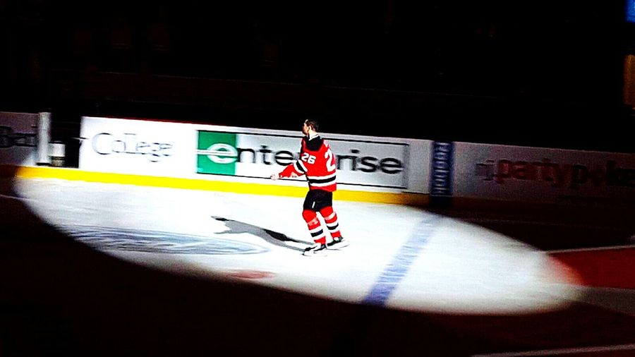 Might be his last game with us NJ Devils NHL NHL Hockey! Devils  New Jersey Devils Patty Elias Elias26