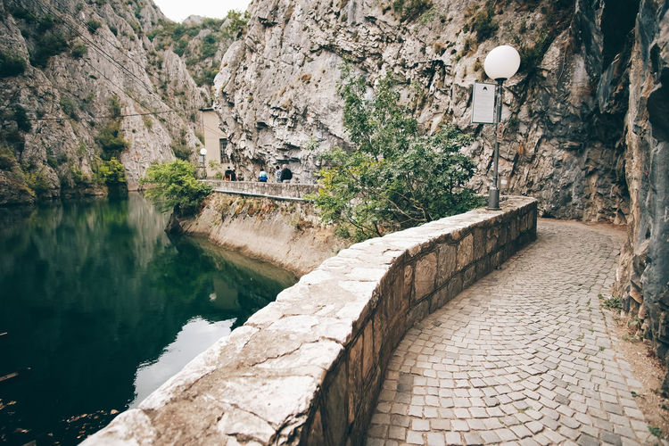 Matka Lake Architecture Built Structure Water Building Exterior Day Nature Tree No People Solid Wall Mountain Plant Rock Outdoors Rock - Object Wall - Building Feature Building Reflection High Angle View Stone Wall