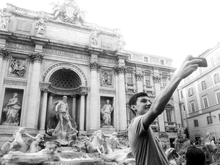 """Selfie in Roma"" Streetphotography Black And White Enjoying Life Taking Selfies"