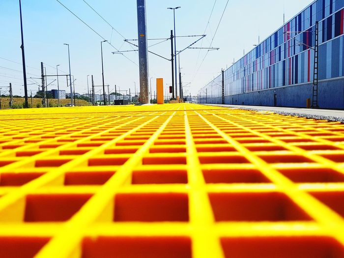 Work DB Fernverkehr Ice 2018 Eyeem Photography EyeEm Best Shots EyeEm Selects Best Side Of Life Germany Yellow Technology Electricity  Business Finance And Industry Cable Sky Architecture Power Supply Parallel