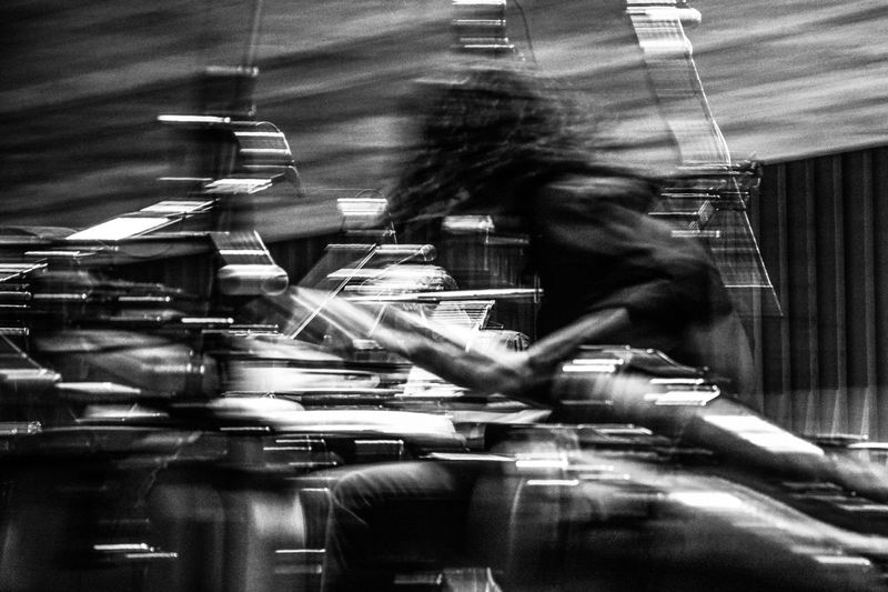 Abstract Photography Abstracto Black And Withe Blanco Y Negro Indoors  Moviment Movimiento Music One Person People Percusion Percussion Real People Concert Concierto Percussionist