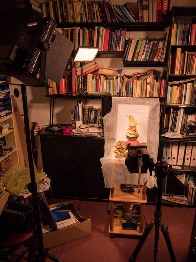 Winter is coming… - Making of Camera Lumix GH5 Almonds Book Bookshelf Cloves Foam Foil Human Representation Indoors  Leaves Library Light Stands No People Paper Pear Pumpkin Sculpture Shelf Studio Shot Tripod
