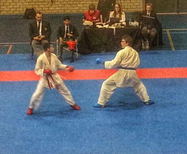 Een mooie en eerlijke wedstrijd werd beslist met 8-0. Het was een mooie dag. Karate TEAMS Championship Juniors