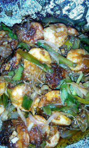 Sunday special Prawns Manchurian Homemade Foodporn