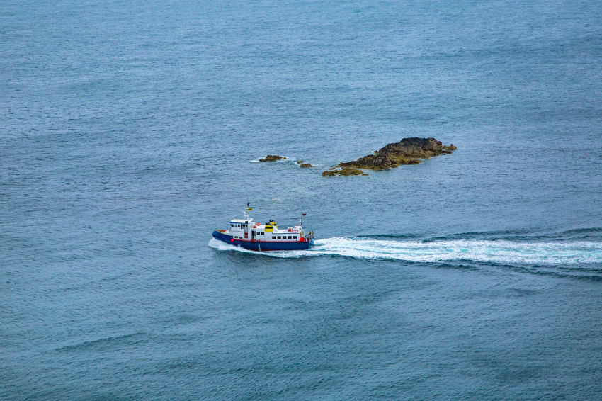 English Channel Isle Of Sark Beauty In Nature Day High Angle View Island Nature Nautical Vessel No People Outdoors Sailing Sark Sea Transportation Water