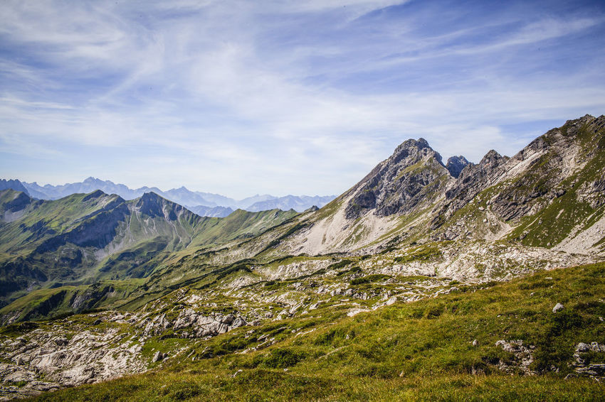 Beauty In Nature Day Hiking Landscape Mountain Mountain Range Nature No People Outdoors Scenics Sky Travel Destinations
