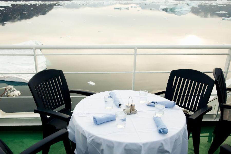 Expedition Ship Dinner Dinner Expedition Ship Greenland Arctic Polar