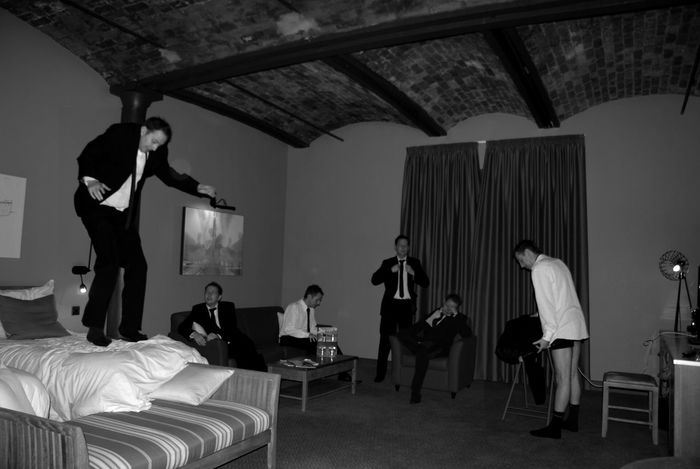 Black & White Black And White Black And White Photography Black&white Blackandwhite Blackandwhite Photography Group Group Of People Hotel Indoors  Jumping Men Multiple Exposures Multiple Layers Multiple Me Party Sitting Suit Suited And Booted Thats Me  Titanic Hotel Welcome To Black Second Acts Black And White Friday Modern Hospitality
