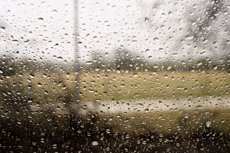 Drop Window Glass - Material Rain Wet Indoors  No People Sky Close-up Day Backgrounds Water Weather RainDrop