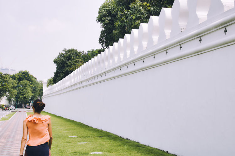white wall One