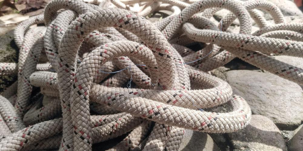 Full frame shot of tied up rope