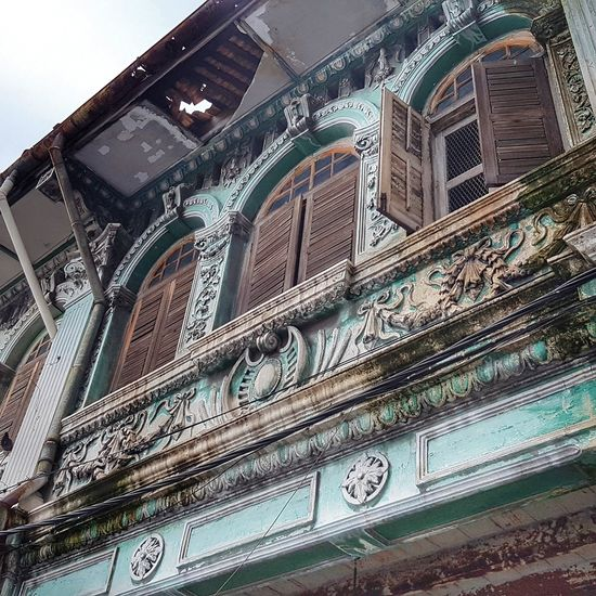Architecture in George Town Malaysia Built Structure Architecture Low Angle View No People Building Exterior City Travel Destinations EyeEm Best Shots EyeEmNewHere George Town Penang George Town, Penang, Malaysia