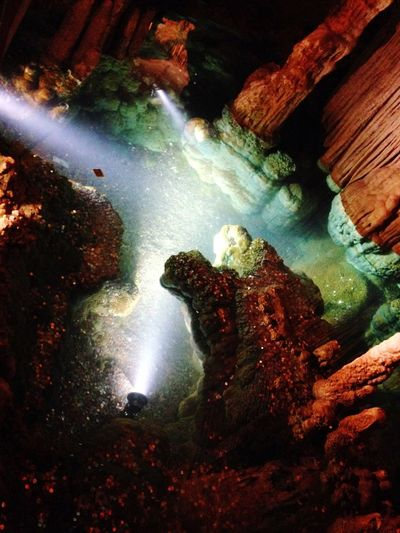 Waterfall Water Rock - Object Beauty In Nature Nature Scenics No People Illuminated Physical Geography Outdoors Night