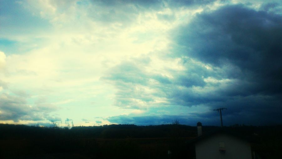 Beau et mauvais temps, le bien er le mal, le ying et le yang voilà la vie rien quand regardent des nuages Yingyang Peyrehorade France