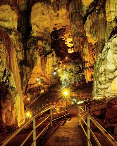 Transportation Illuminated Travel Travel Destinations Night Cave Low Light Gopeng Perak Tempurung Cave-Perak