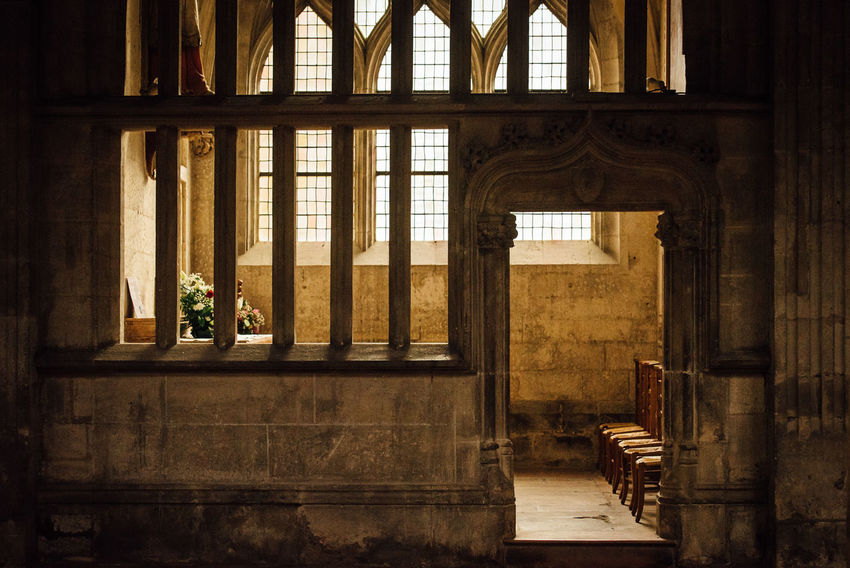 Window Architecture Built Structure Indoors  No People Day Church Medieval Medieval Architecture Church Architecture Catholic Cathedral Religion Peace Quiet Seats In A Row Columns